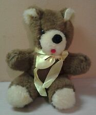 "Vintage Rare HTF 1975-1979 Teddy Bear Brown Cream Plush 10"" stuffed animal"