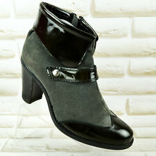 DIRECTION DUBARRY Womens Leather Ankle Heeled Boots Shoes Heels Size 3 UK 36 EU