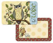 Wise Owl Decofoam Reversible Placemat Set ~ Set/4