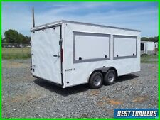 2016 Look 8 x 16 enclosed concession 2 window vending trailer white 8x16