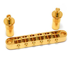 "Gotoh Gold ""Big Hole"" Tune-O-Matic Style Guitar Bridge GB-0525-002"