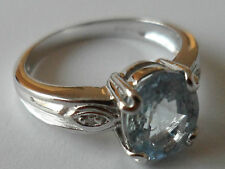 18K WHITE GOLD PARAIBA TOURMALINE & DIAMOND RING 1.45ct COPPER BEARING