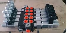 MONOBLOCK SECTIONAL VALVES SOLENOID CONTROL 5 SPOOL 12V Flow 50l/min 13 GPM