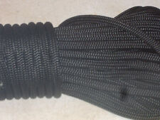 3/8x100  feet Double Braid Nylon BLACK ROPE Anchor Dock Hoist Winch  Lift