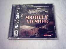 SONY Playstation PS1 Video Game  MOBILE ARMOR  Complete SLUS-01469 *Near MINT*