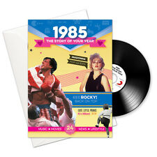 1985 31st Birthday | Anniversary Gift -1985 4-In-1 Card,Book,CD and Download