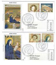 vaticano 2000 serie santo natale  su 2  buste primo giorno raccomandate bu.074