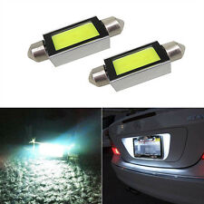 2pcs/set White Xenon 36mm Car COB LED License Plate Light 6418 C5W 4W LED Bulbs