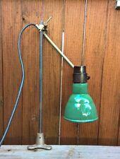 Vintage Industrial Adjustable Work Bench Lamp Workshop Table Light Enamel Shade
