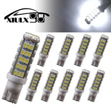 10X Xenon White T10 68 LED SMD RV Camper Backup Light Bulbs W5W 194 921 168 12V