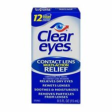 5 Pack - Clear Eyes Contact Lens Multi-Action Relief 0.5oz Each