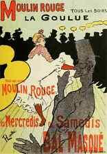 A4 photo TOULOUSE LAUTREC 1Les AFFICHES ILLUSTREES moulin rouge imprimé Poster