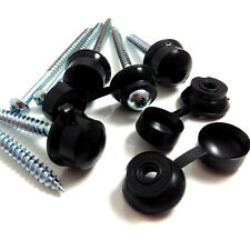 "1000, 3"" (75mm) CORRUGATED ROOFING SCREWS & BLACK STRAP CAPS FOR SHEET ROOFING"