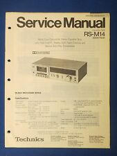 TECHNICS RS-M14 CASSETTE SERVICE MANUAL ORIGINAL FACTORY ISSUE REAL THING