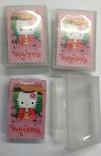 3 Hello Kitty Poker Playing Cards W/case Standard Size Party Favor Prize