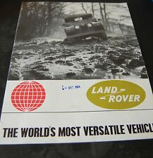 Land Rover Series 2a & Forward Control Fold Out Sales Brochure 657 c.1964