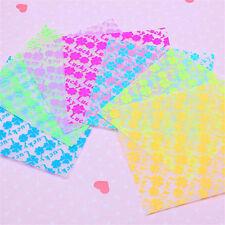 70 Sheets/pack 7*7cm DIY Heart Lucky Clover Folding Luminous Crane Paper
