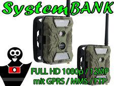 FULL HD Wildkamera Fotofalle Überwachungskamera 1080p 12MP 40IR mit GPRS MMS FTP