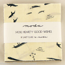 "Moda FABRIC Charm Pack ~ MORE HEARTY GOOD WISHES ~ Janet Clare 42 - 5"" squares"