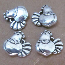 20pc Retro Tibetan Silver Chicken Animal Pendant Charms Beads Accessories B525L