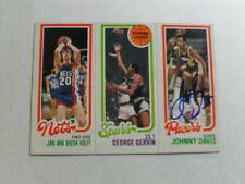 JOHNNY DAVIS SIGNED 1980 1981 TOPPS INDIANA PACERS NBA BASKETBALL CARD WITH COA