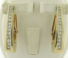 Beautiful Pair of 14k Yellow Gold and Diamonds Ear Clips