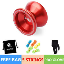 Magic YOYO Ball T5 Overlord Aluminum Alloy Kids Toys Gift Red 5 String 1Bag YU