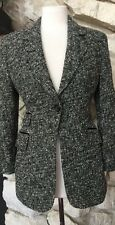 Dolce & Gabbana Women's Black White Textured Lined Button Blazer Jacket Sz 40