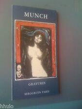 catalogue Berggruen Edvard Munch Gravures 1983 Lithographie eaux fortes