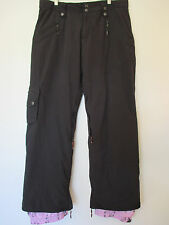 WOMENS L BODY GLOVE  Black Insulated SKI SNOW BOARD PANTS - Excellent !