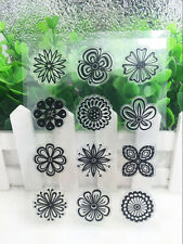 Flower Silicone Clear Stamp Seal DIY Diary Scrapbooking Album Note Craft #01