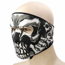 US Motorcycle Biker 2 in 1 Reversible Neoprene Assassin Skull Full Face Mask Ski