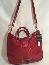 NWT $448 Marc Jacobs Mini Shopper Tote Crossbody Bag Glazed Patent Leather Red
