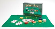 Traditional Traditions Poker Set Felt Mat Cards & Chips Perfect Party Travel