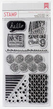 American Crafts NOTEWORTHY Stamp Collection (8) Acrylic Stamps scrapbooking