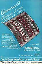 PUBBLICITA' REGISTRATORE DI CASSA RIV VILLAR PEROSA  SIRNOVA TOTALIZZATORE 1936