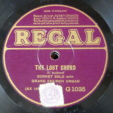 "78rpm 12"" THE LOST CHORD / THE HOLY CITY G 1035 cornet solo"