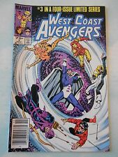 WEST COAST AVENGERS #3 Nov 1984 Marvel Limited Series bagged/boarded VF LOT A