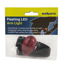 Sakura Flashing LED Arm Light For Road/Night Safety With Velcro Strap