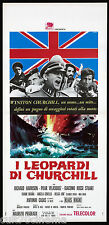 I LEOPARDI DI CHURCHILL LOCANDINA CINEMA SECOND WAR WEHRMACHT SS 1970 PLAYBILL