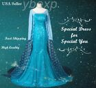 Frozen Adult Queen Princess Elsa Christmas Dress Costume Cosplay Party Dress