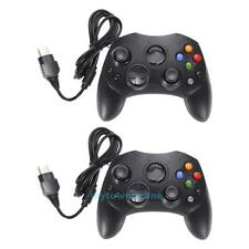 Lot 2 Black Wired Controller Game Pad Joypad for Microsoft XBOX System Type 2