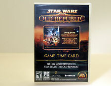 (NEW) Star Wars: The Old Republic 60-Day Pre-paid Card (PC, 2011)