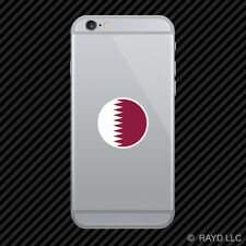 Round Qatari Flag Cell Phone Sticker Mobile Qatar QAT QA