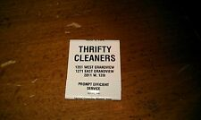 Vintage THRIFTY CLEANERS Drapery Service Domestic Industrial Matchbook Cover