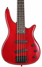 New Red Full Size 5 String Electric Bass Guitar with 24 Frets Maple Neck Davison