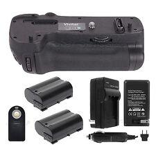 Battery Grip For Nikon D500 + 2x EN-EL15 Batteries + Charger + Universal Remote