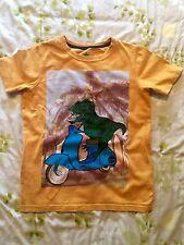 John Lewis - T-Rex on a Moped Orange T-Shirt ( Age 11 )