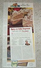 1948 print ad - Spry Shortening Prune Whip cake recipe Aunt Jenny Lever Bros AD
