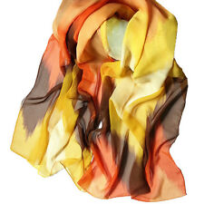Women Fashion Glamorous Chinese Ink Style Wrap Lady Shawl Chiffon Scarf Scarves